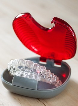 A protective case for aligners
